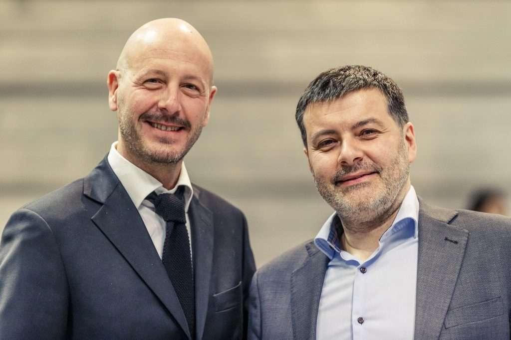 Da sinistra, Federico Girotto, amministratore delegato di Masi Agricola, e Raffaele Boscaini, coordinatore del Gruppo Tecnico Masi