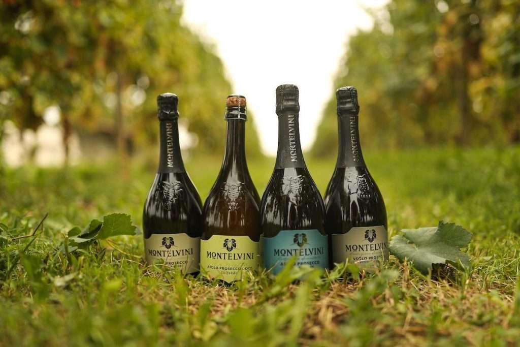 Uno spaccato della gamma di vini Montelvini, dove sono le bollicine a farla da padrone