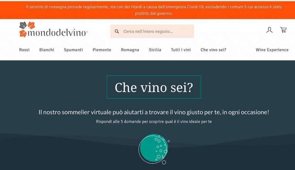 """Il nuovo shop online Mondodelvino è un percorso digitale capace di condurre dalla scoperta di """"Che vino sei?"""" all'acquisto diretto dal produttore, passando per il digital tasting."""