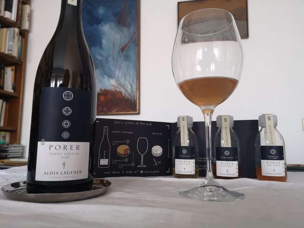 """Ed ecco il risultato del nostro esperimento: il Porer Pinot Grigio di Wine Couture è blend di: 40% campione """"numero uno"""" + 25% campione """"numero due"""" + 35% campione """"numero tre""""."""