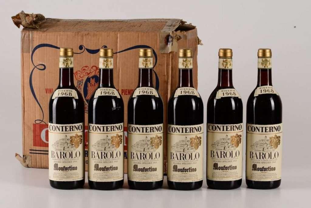 Tra i prezzi pregiati della collezione di Del Posto, anche una verticale di Monfortino Riserva, Giacomo Conterno, con bottiglie che raccontano la storia della cantina dal 1941 al 2013