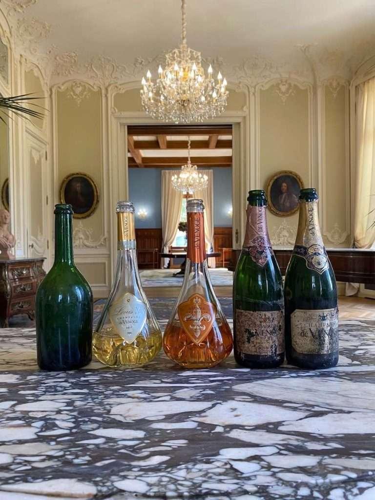 Una degustazione di eccellenza in compagnia del presidente della Maison, Gilles de la Bassetière, per Francesca Mortaro e Andrea Silvello da De Venoge