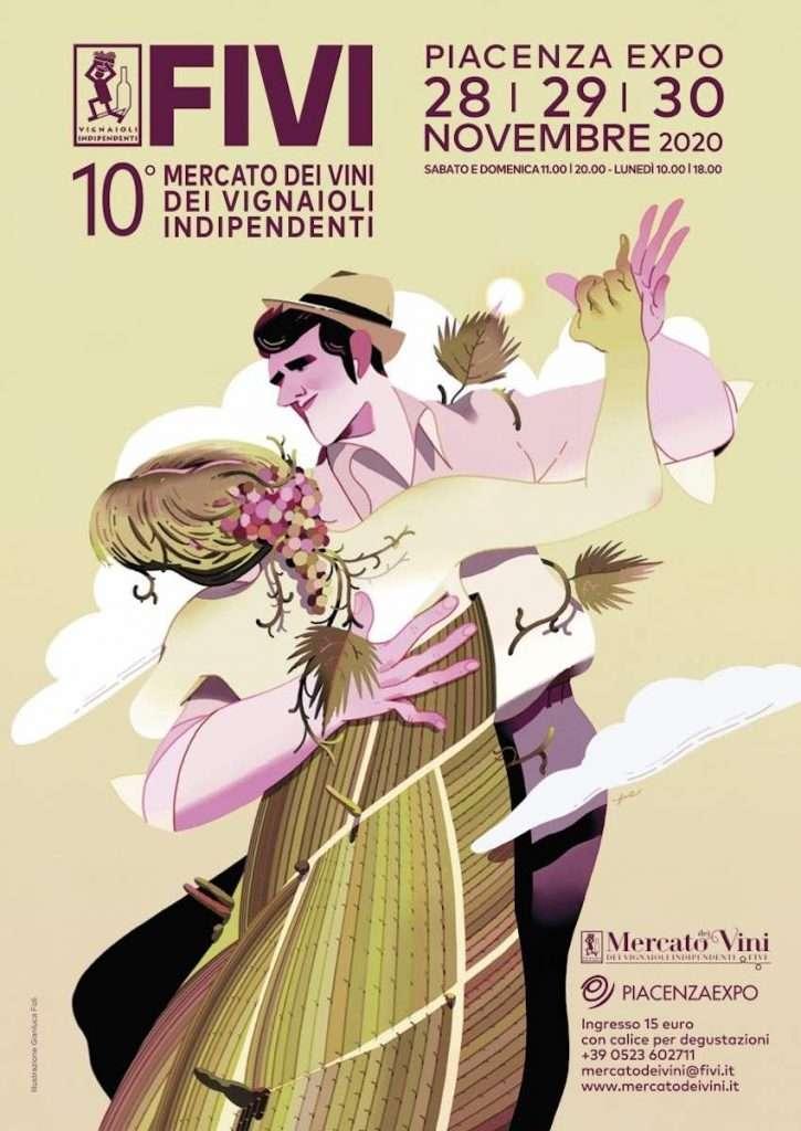L'illustratore romano Gianluca Foli ha firmato la locandina della decima edizione del Mercato dei Vini