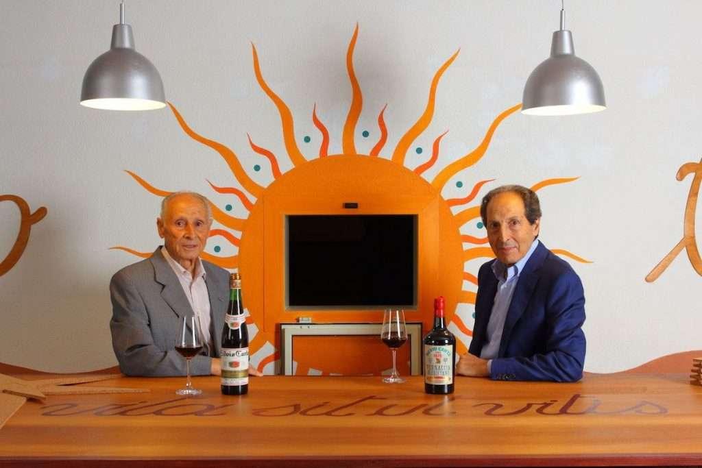 Silvio ed Elio Carta sono due dei volti più riconoscibili della Sardegna del vino, grazie anche al loro impegno nella costante valorizzazione di un'eccellenza come la Vernaccia di Oristano