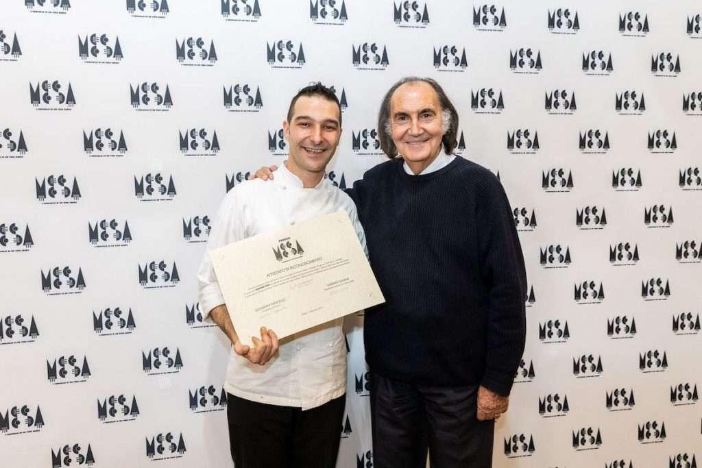 Il talent chef vincitore dell'edizione 2019 del Premio Mesa è stato Gavino Piu, dello Janas Restaurant di Alghero