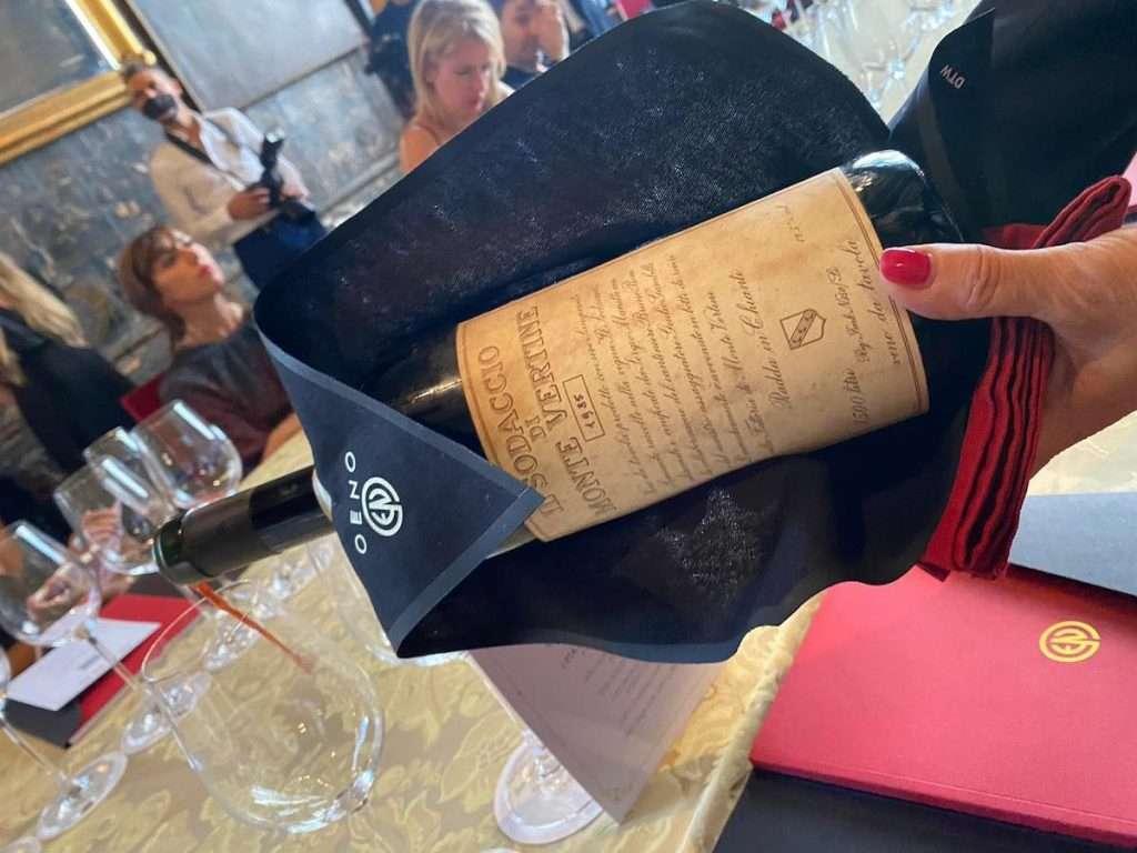 Tra i protagonisti del pomeriggio Oeno, anche il vino che non esiste più: il Sodaccio 1985 (in magnum) di Montevertine