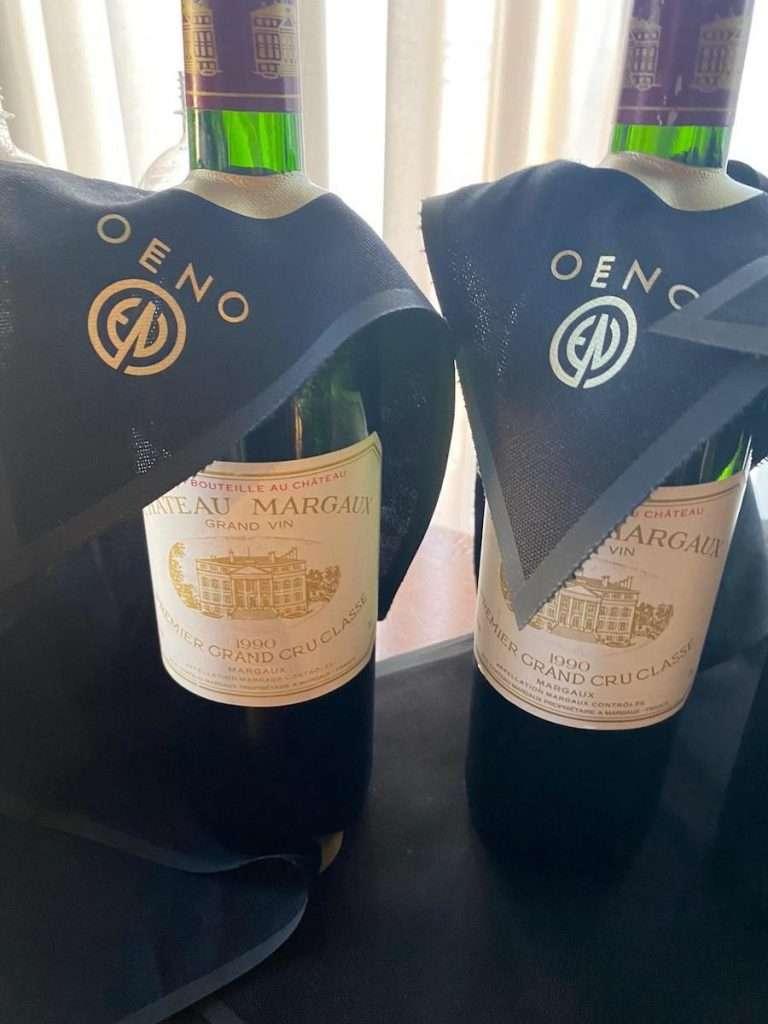 Il Château Margaux 1990 non ha bisogno d'introduzioni: il campione della serata Oeno