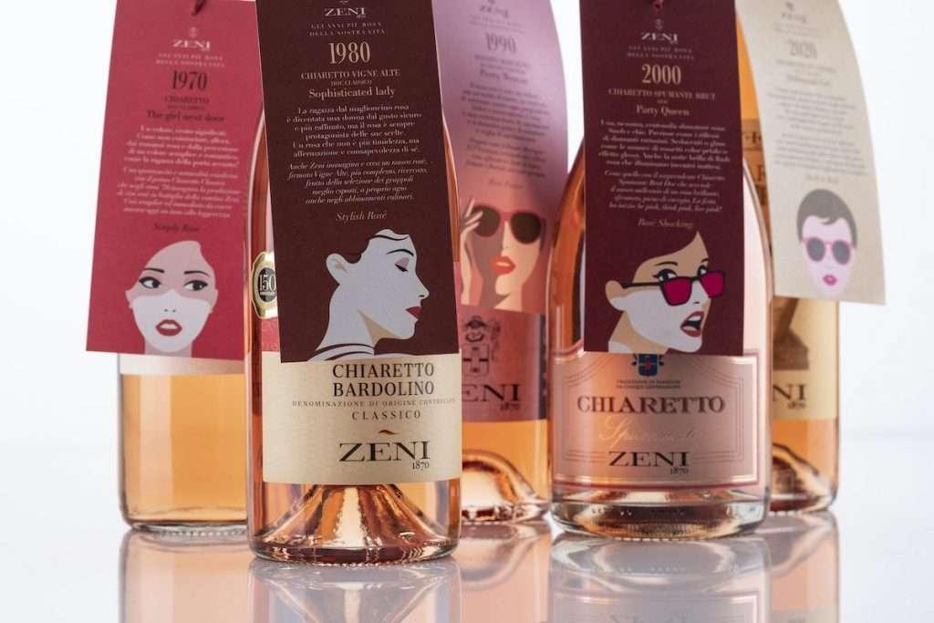Cinque differenti interpretazioni in rosa, con quattro Doc e una Igt, per cinque donne diverse