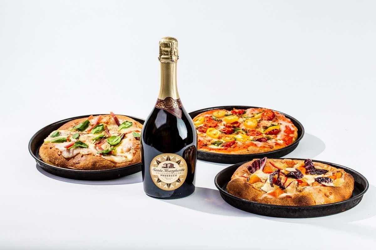 Pizza e bollicine: Santa Margherita fa coppia con Delivery Valley per tre limited edition