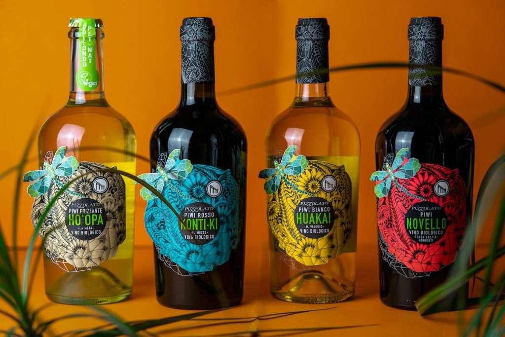 i vini Piwi firmati Pizzolato: Ho'opa, Huakai, e Konti-Ki si sono aggiunti nel 2020 al Novello da uve Merlot Khorus e Cabernet Cortis