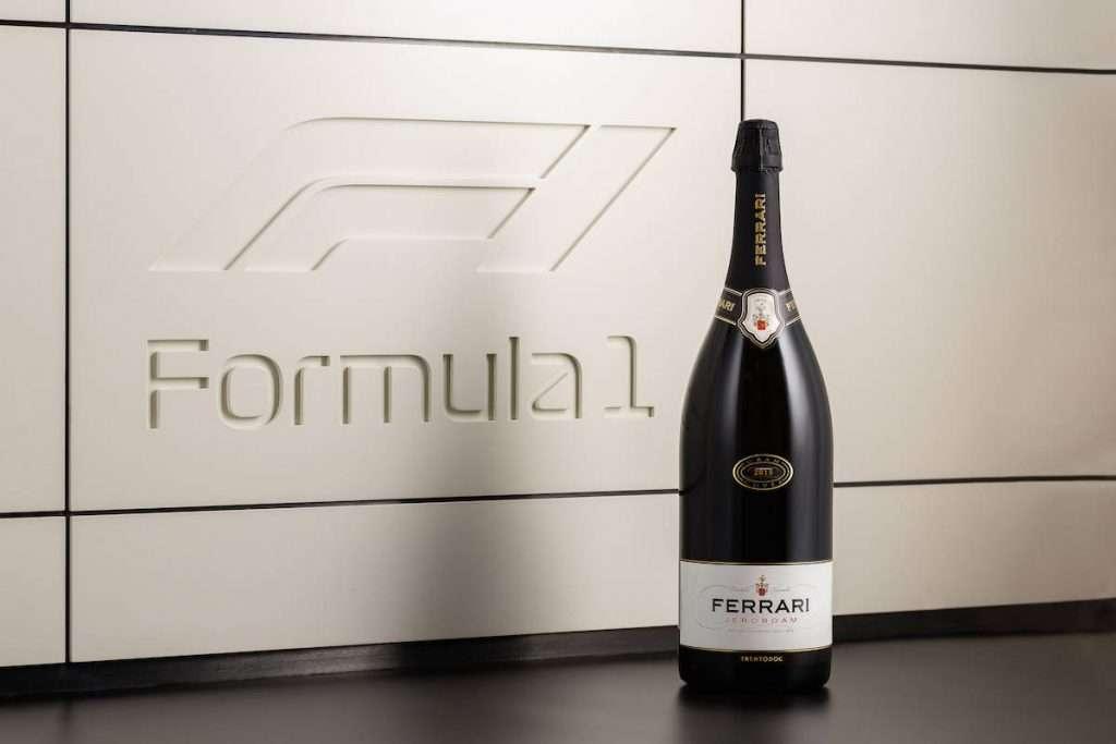 La doppia magnum di Ferrari Trento scalza le bollicine di Champagne sul podio di Formula 1