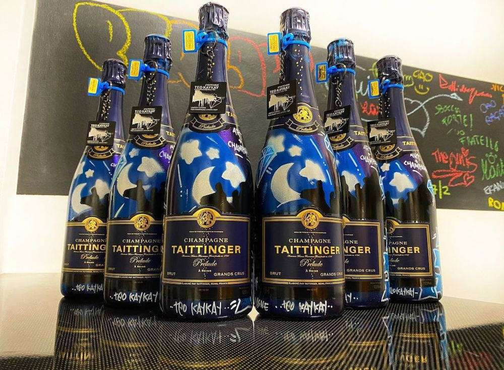 """La prima collezione ad aver abbinato gli NFT con gli Champagne: """"Teo KayKay x TopChampagne Prelude Titanium"""""""
