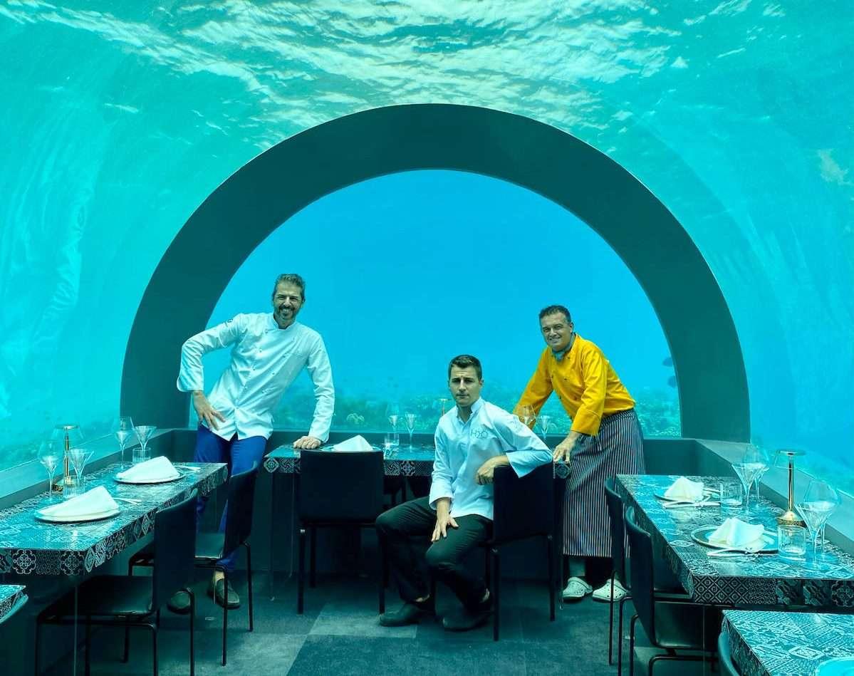 H2O: Andrea Berton sbarca alle Maldive con un ristorante sott'acqua