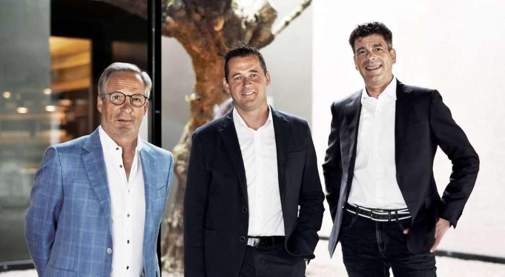 Hans Terzer (enologo e direttore), Klaus Pardatscher (presidente), Günther Neumair (amministratore delegato) di Cantina San Michele Appiano