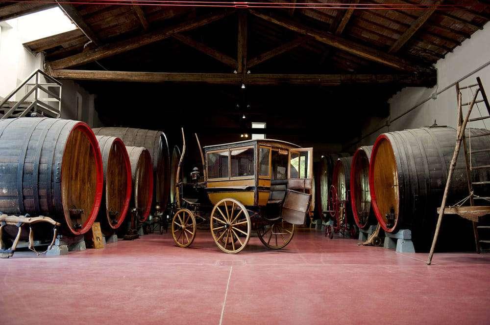 Il Museo del Vino e della Civiltà Contadina di Nonantola (Modena) presenta una raccolta unica di attrezzi legati all'agricoltura e alla vinificazione provenienti dalla stessa cantina Giacobazzi emiliana che lo ospita