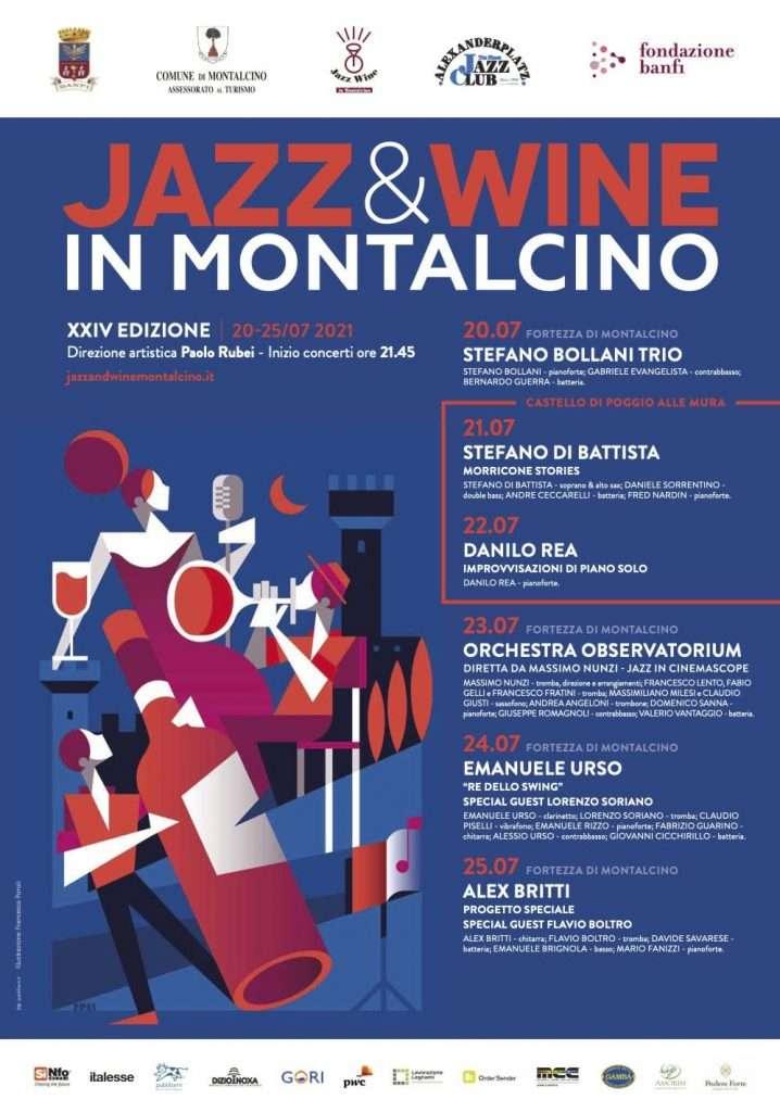 Il calendario di Jazz & Wine in Montalcino 2021