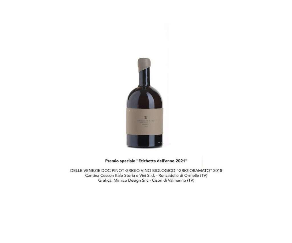 Premio speciale Etichetta dell'anno 2021 al Vinitaly Design International Packaging Competition