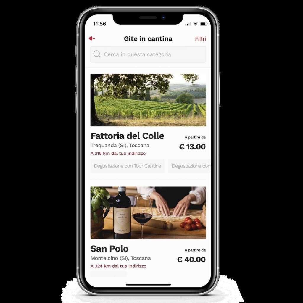 """Grazie alla nuovissima sezione """"Gite in Cantina"""", gli utenti della community di Winelivery hanno a disposizione delle esperienze uniche prenotabili solo dai clienti dell'App per bere"""