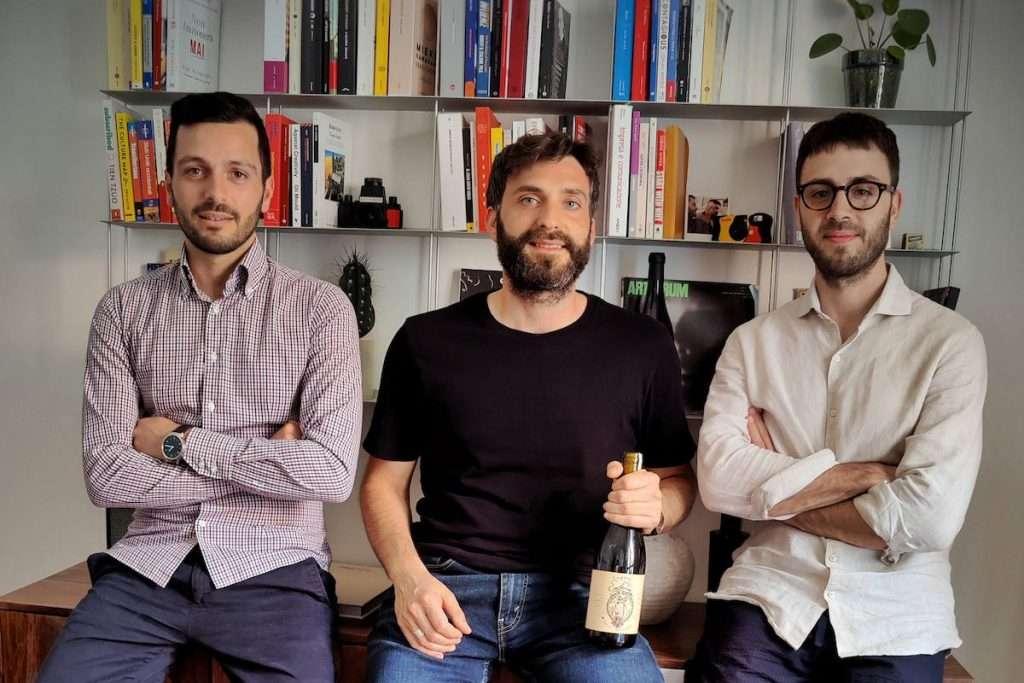 I fondatori di Winey, da sinistra: Massimo Simoniello, Valerio Barbato e Luigi Di Costanzo