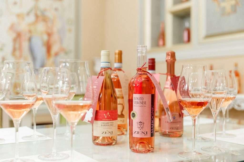 """Nelle degustazioni enosensoriali in Bottaia è possibile scegliere il percorso """"Gli anni più Rosa della nostra vita"""", che comprende le cinque interpretazioni di rosato secondo Zeni1870"""