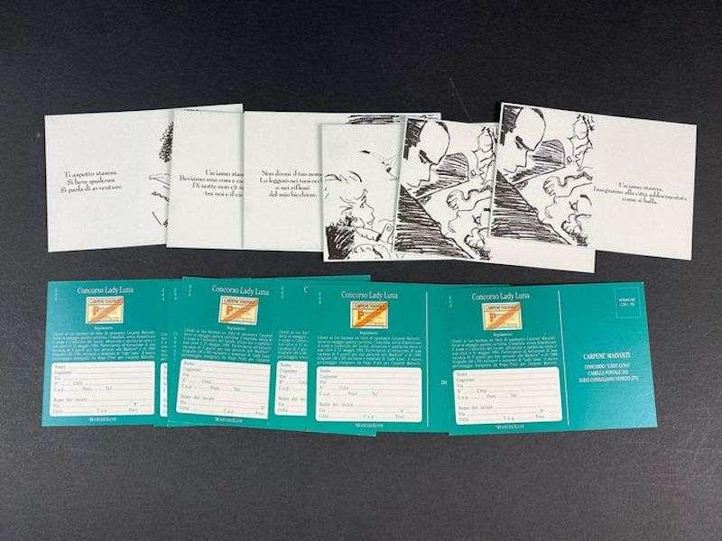 Il tratto di Hugo Pratt fu protagonista della storica campagna di comunicazione che il celebre disegnatore realizzò per Carpenè Malvolti nel 1993