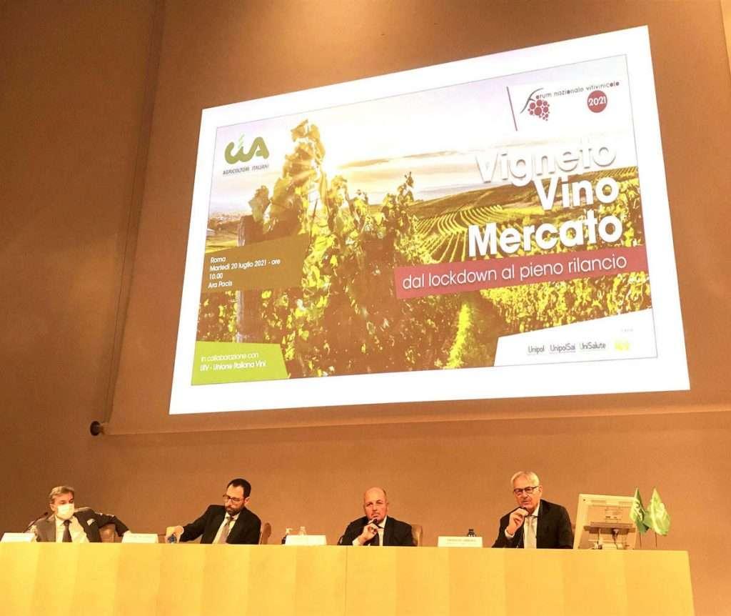 Al Forum Nazionale Vitivinicolo 2021 promosso da Cia-Agricoltori Italiani in collaborazione con Unione Italiana Vini al centro del dibattito la ripresa del settore dopo l'anno della pandemia