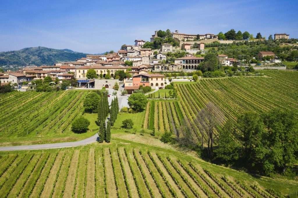 I pregiati Franciacorta Lantieri sono prodotti da uve raccolte manualmente nei 20 ettari di vigneti (coltivati in forma biologica) di proprietà aziendale