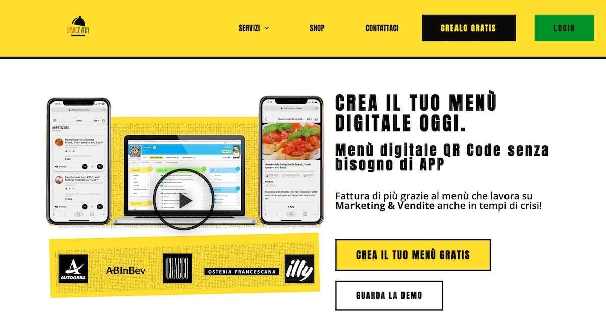 RistoTech/2 Dishcovery: menù digitale, aggiornabile e condivisibile