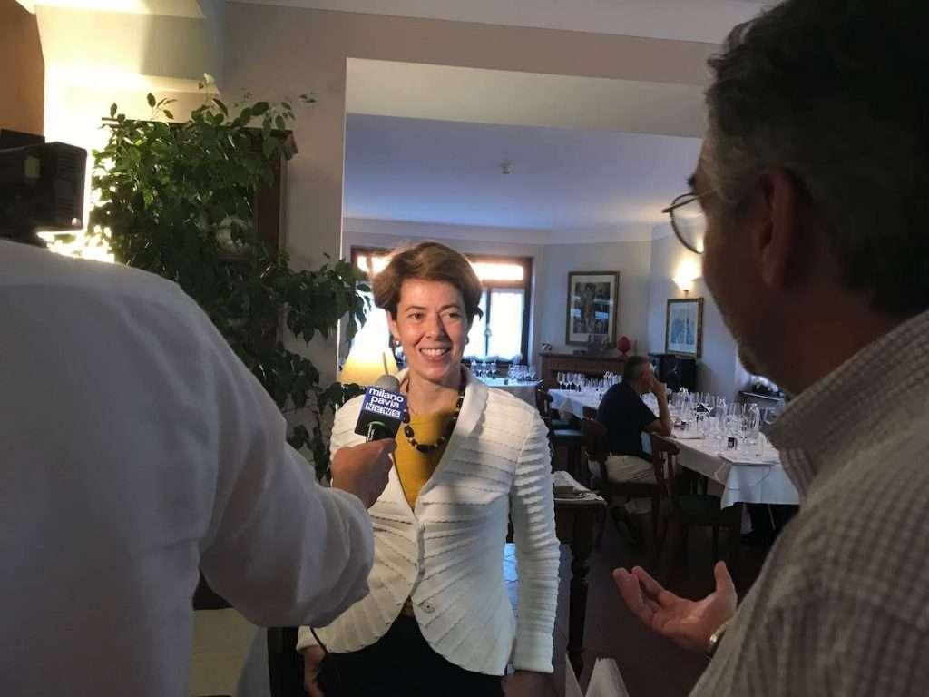 Anche Gilda Fugazza, presidente del Consorzio Tutela Vini Oltrepò Pavese, tra i partecipanti all'evento con Francesco Moser che ha messo a confronto bollicine dell'Oltrepò con il mondo TrentoDoc