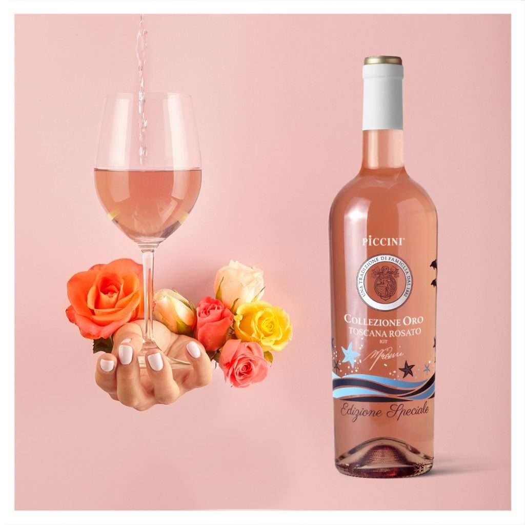 Rosato Toscana Igt Piccini è il vino dell'estate: ottimo per accompagnare aperitivi, antipasti, pesce, carni bianche in genere.