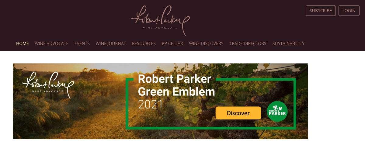 Robert Parker spalanca le porte al vino sostenibile
