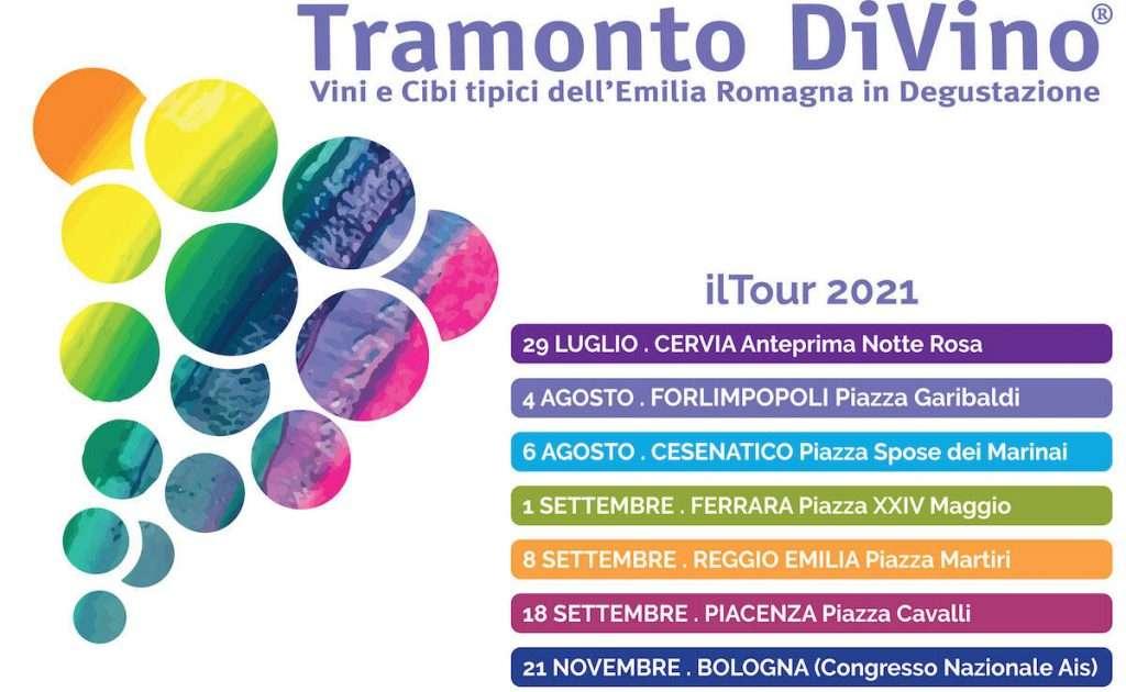 Le tappe del Tour 2021 di Tramonto DiVino