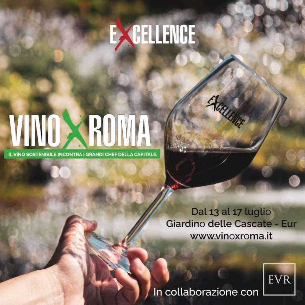 Lo splendido Giardino delle Cascate dell'Eur accoglierà dal 13 a l17 luglio la prima edizione di Vino X Roma