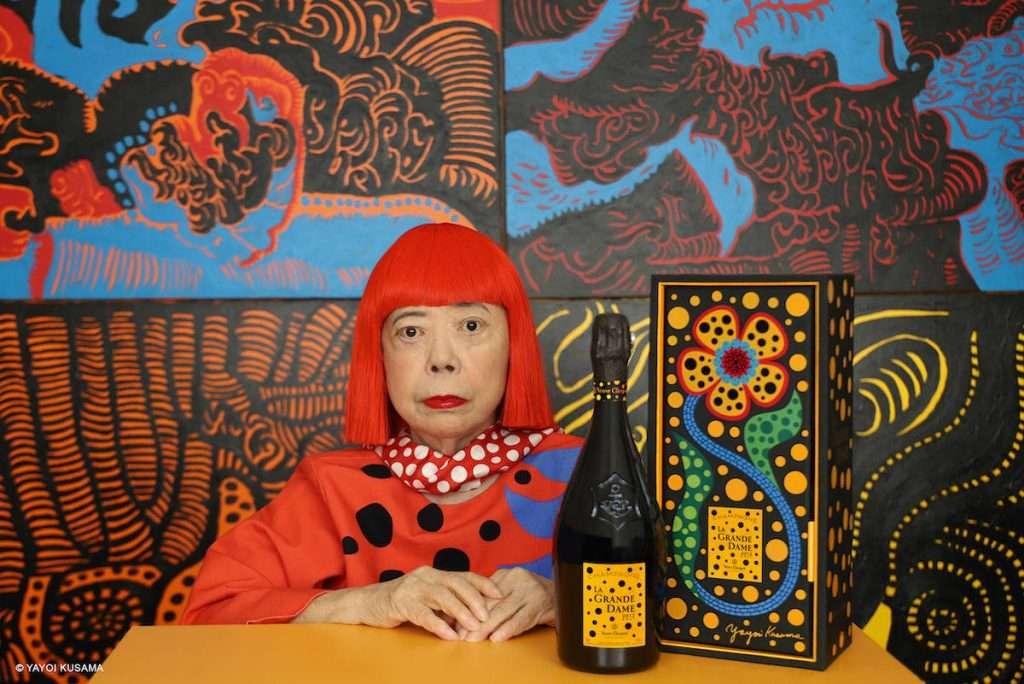 Un'edizione speciale, quella de La Grande Dame 2012 Veuve Clicquot, vestita dall'artista giapponese Yayoi Kusama