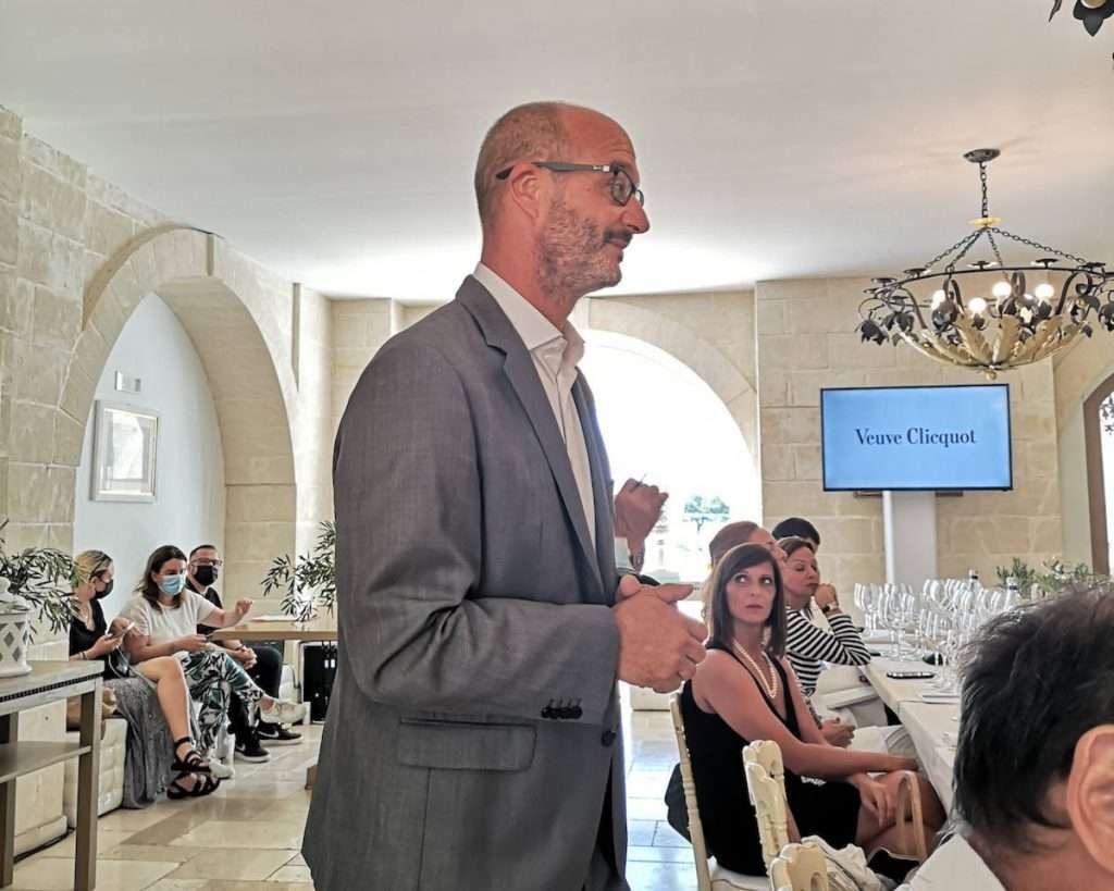 Lo chef de cave di Veuve Clicquot, Didier Mariotti, al suo esordio in Italia in occasione proprio del lancio de La Grande Dame 2012
