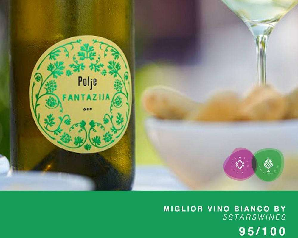 Il Fantazija Bianco Doc Collio 2019 di Polje si è visto assegnare, dalla giuria di wine professional che ha valutato i campioni per la guida, il miglior punteggio in assoluto per un vino bianco al 5StarWines – The Book 2022 di Vinitaly