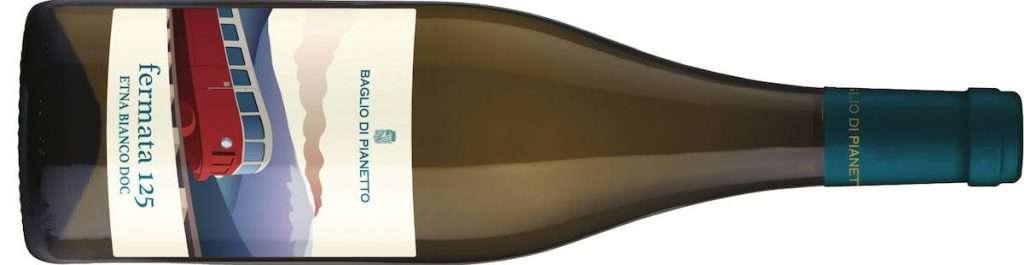L'Etna Bianco Doc Fermata 125 2020 di Baglio di Pianetto proviene da uve certificate biologiche di Carricante in purezza