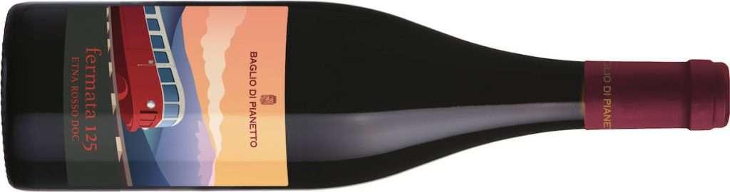 L'Etna Rosso Doc Fermata 125 2019 di Baglio di Pianetto è ottenuto da uve di Nerello Mascalese in purezza