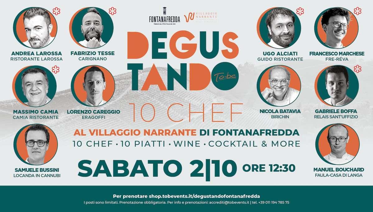 Degustando: a Fontanafredda, 10 Chef e un grande evento