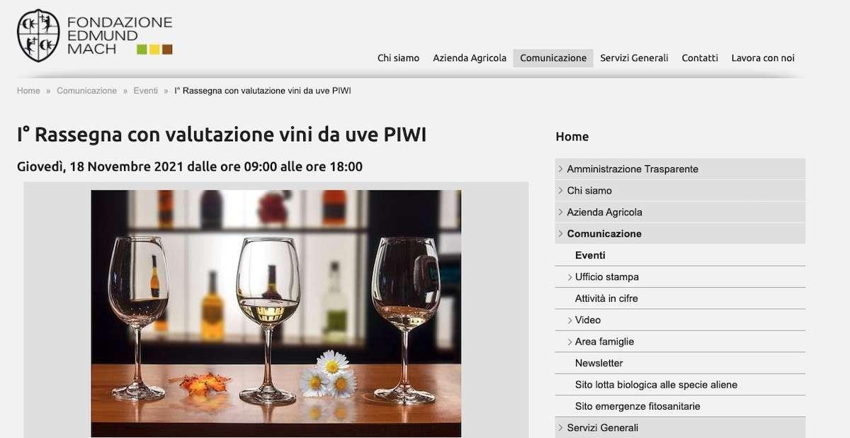 """Vini """"resistenti"""": Fondazione Mach organizza la prima rassegna nazionale"""
